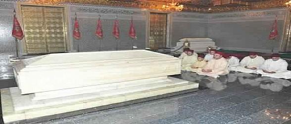 أمير المؤمنين يترحم على روح جلالة المغفور له محمد الخامس