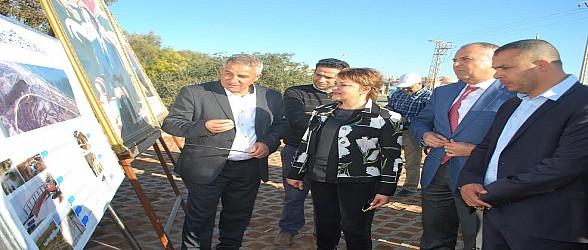 صور….الوزيرة الحيطي والعامل حوضي في زيارة ميدانية لمصب ملوية