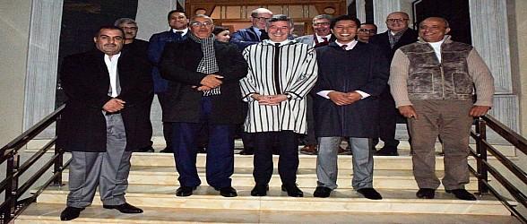 """السيد عبد النبي بعيوي يستقبل النائب الأول لرئيس جهة  """"غراند ايست"""" الفرنسية والوفد المرافق له"""