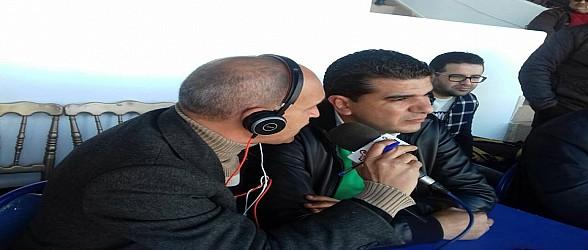 الصحفي عبدالقادر البدوي يحري أول حوار مع هوار رئيس المولودية الوجدية