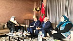 صور..الاعرج وزير الثقافة يستقبل نظيره الجزائري والكاتب العام لوزارة الثقافة السعودية