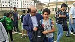 صور..الاستاذ متحد يوزع حقائب وبذل رياضية على الفئة الصغرى للمولودية الوجدية