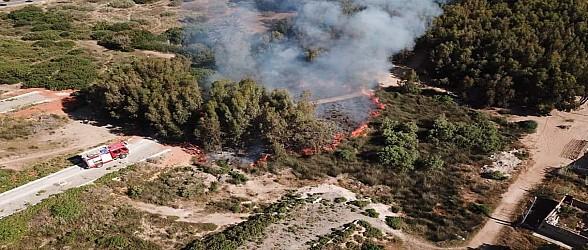 حريق بغابة مجاورة للسعيدية والوقاية المدنية تدخل على الخط