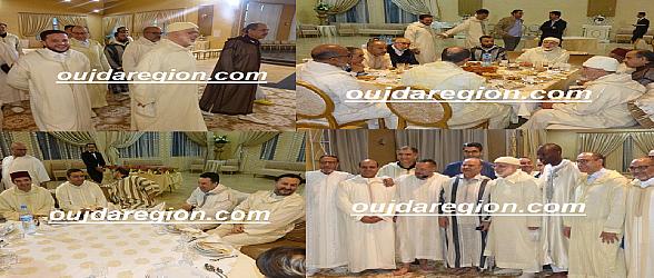 فيديو وصور..شيخ البودشيشية يشارك بوجدة شباب الطريقة افطار رمضان