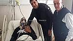محمد هوار يطمئن على صحة الحارس السابق للمولودية الوجدية