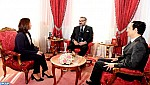 جلالة الملك يستقبل الرئيسة الجديدة لهيأة الإدارة الجماعية لصندوق الحسن الثاني للتنمية الاقتصادية والاجتماعية