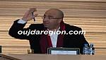هشام الصغير رئيس مجالس عمالة وجدة يهنىء صبري المدير العام للاستثمار