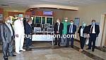 شاهد البنك الشعبي بوجدة يسلم مستشفى كورونا بالسعيدية تجهيزات الكترونية