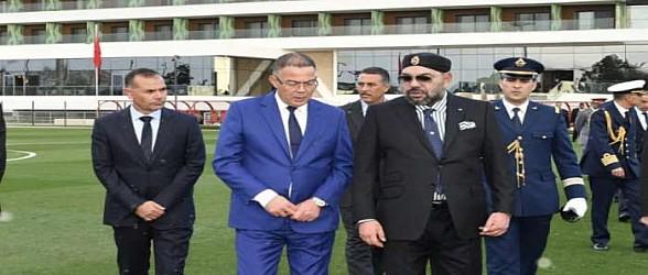 برقية تهنئة من جلالة الملك إلى أعضاء نادي النهضة البركانية لكرة القدم بعد تتويج الفريق بلقب كأس الكونفدرالية الافريقية