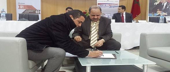 فيديو وصور،ارتسامات المجالس المنتخبة عقب توقيع اتفاقيات مع جامعة محمد الأول