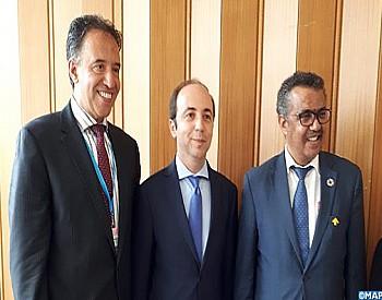 أنس الدكالي يجري مباحثات في جنيف مع رئيس منظمة الصحة العالمية