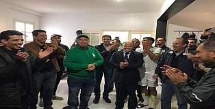 هشام الصغير يهنا المولودية الوجدية بعد حضوره المقابلة