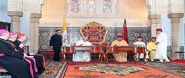 """أمير المؤمنين صاحب الجلالة الملك محمد السادس وقداسة البابا فرانسيس يوقعان """"نداء القدس"""""""