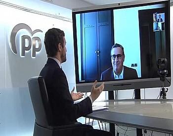 اخنوش وجها لوجه مع رئيس حزب اسباني ويعبر عن خيبة المغاربة لاستقبال غالي