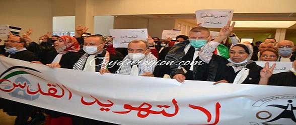 شاهد بوجدة…نقابة المحامين تتضامن مع الشعب الفلسطيني