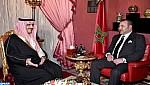 جلالة الملك يستقبل صاحب السمو الملكي الأمير خالد بن بندر بن عبد العزيز الذي نقل لجلالته رسالة شفوية من خادم الحرمين الشريفين